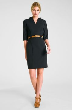 Belted Stretch Sheath Dress / #nordstrom @nordstrom