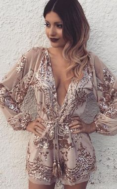 Romper Rose Gold