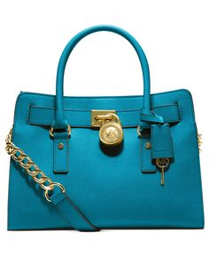 MICHAEL Michael Kors Handbag, Hamilton Saffiano Leather E/W Satchel - Handbags & Accessories - Macy's