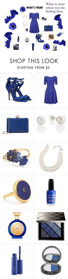 """Blue Fashion"" by rebeccadavisblogger on Polyvore featuring STELLA McCARTNEY, Banana Republic, Carolee, Lola Rose, Wet n Wild, Boadicea the Victorious, Burberry, MAC Cosmetics and Oribe"