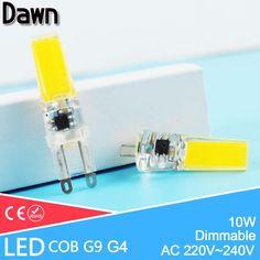 De Calidad superior G4 G9 Lámpara de G9 LED Regulable COB 10 W 220 V LLEVÓ la Luz Del Maíz Reemplazar 50 w Lámpara Halógena de Luz Led lámpara de Araña de Cristal Lampada
