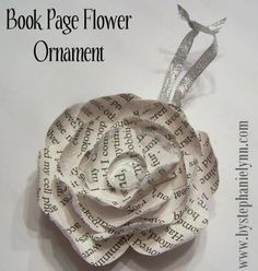 Someday Crafts: Book Paper Flowers