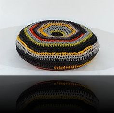recycled clothes pouf by oodesign