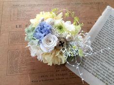 preserved flower series_____________________________________※アジサイのお色がパープルがかって見え... ハンドメイド、手作り、手仕事品の通販・販売・購入ならCreema。