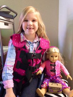 Cystic Fibrosis Doll Vest: What a great idea (and fundraiser for the CF Foundation) to help normalize daily therapy for a child and friends.  *Contact Etsy seller regarding availability of item. #practicingplay #childlife