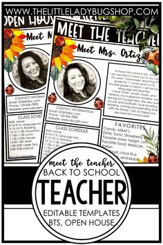 Easily introduce yourself to your students and their families with a Meet the Teacher letter with a ladybug and sunflower theme! These editable templates are so easy to use and include examples and ideas for you to get started. Once you're done editing, you can send use your Meet the Teacher page digitally or print it to send home. This is a must have for back to school night, open house, or the first day of school! #thelittleladybugshop