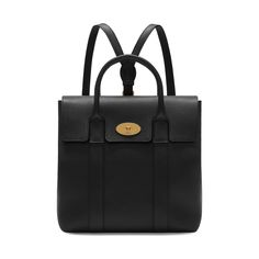 Mulberry+-+Bayswater+Backpack+in+Black+Small+Classic+Grain