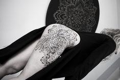 Chrysanthemum tattoo ornament dotwork blackwork Chrysanthemum Tattoo, Blackwork, Ornament, Photo And Video, Tattoos, Instagram, Decor, Tatuajes, Tattoo
