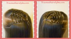 Woven Pyramid Half Up Hairstyle Tutorial, Princess Hairstyles