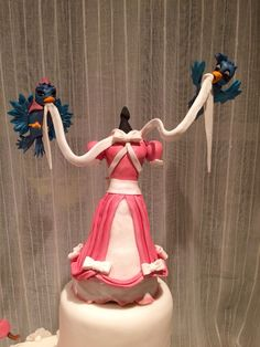 #cinderella #caketopper #cinderelladress #pink #cake