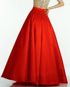 Formální Chic Hot Red Podlahové Délka sukně pro ženy Formální Party taft Dlouhé sukně Módní Zipper styl vyrobeny na zakázku