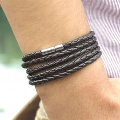 XQNI Wrap Long Leather Bracelet