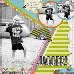 layout made using Wild Child digital scrapbook kit by Simple Girl Scraps