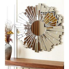ABBYSON LIVING Empire Burst Round Wall Mirror - Free Shipping Today - Overstock.com - 14785357 - Mobile