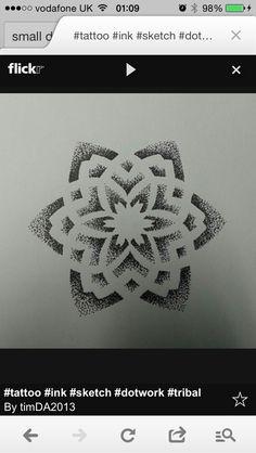 Dotwork flower design