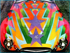 Awesome sports car painted by Dudley Edwards. Want.