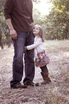 This is such a cute picture of a daddy and his little girl! Would like it better if the dad's face was included in the picture