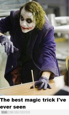 The Dark Knight - Joker performs the best magic trick ever.