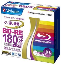 Verbatim Blu-ray Disc 10 Pack - BD-RE 25GB 2X - 2011 by Verbatim. $34.60. Verbatim blank bluray discs (region Free) printable version.   Verbatim's Hard CoatTM technology is similar to the surface coating technology used on touch panels and scratch-resistant eye glass lenses.  MABL (Metal ABlative Layer) is Verbatim's patented recording layer technology developed specifically for Blu-ray media.