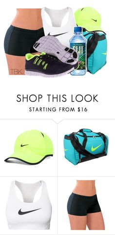 """Need to lift mi bamsey!"" by threadsbykeiko ❤ liked on Polyvore featuring NIKE"