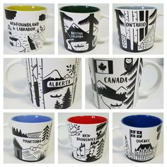 New Canadian Provinces Coffee Mug by Indigo - You Pick One