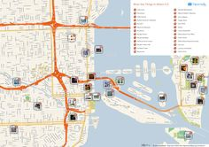 Free Printable Map of Miami attractions from Tripomatic.com. Get the high-res version at http://www.tripomatic.com/United-States-of-America/Florida/Miami/#tourist-map