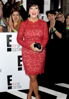 Kris Jenner first wore the red lace dress in April, beating both Kim Kardashian and Dame Helen Mirren to the punch