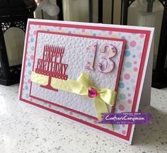 Age Card made using Sara Signature Birthday Party collection – Designed by Mel Jess #crafterscompanion