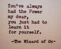 WIZARD OF OZ Quote Frank Baum Quote Typed on by PoetryBoutique
