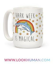 What's more magical than a shark? How about an entire week devoted to them! It's summer time which means it's time for swimming and sharks! Show off your love for sharks this summer with this cute and magical, shark mug! Shark Bait, Reef Shark, Cute Mugs, Funny Mugs, Save The Sharks, Pin On, Great White Shark, Shark Week, I Love Coffee