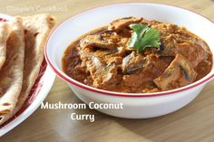 MUSHROOM COCONUT CURRY  Mushroom gravy / Mushroom Curry / Mushroom Coconut Masala is a spicy and delicious recipe. This curry is best when served with chapati / Naan / Roti / Paratha or even with j…
