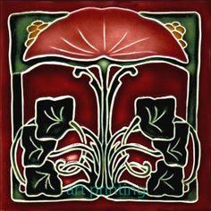 Art Nouveau Ceramic decorative wall tile 6 X 6 Inches #16 in Home & Garden, Home Décor, Tile Art | eBay
