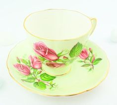 Colclough  cup and saucer shot silk fine bone china high tea party....make it yours!