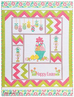 Happy Easter quilt by Cherry Guidry
