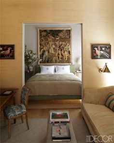 An Olive Green Master Bedroom