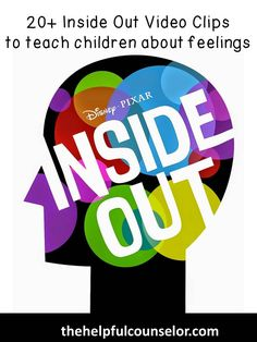 Kids Health Inside Out Video Clips to teach feelings and emotions - Disney's Inside Out, is great for exploring themes in counseling. My students are able to . Quotes Thoughts, Life Quotes Love, Counseling Activities, Therapy Activities, Therapy Ideas, Play Therapy, Group Counseling, Mental Health Activities, Articulation Activities