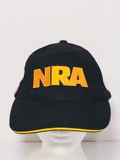a38da6c2d23f0 Details about NRA National Rifle Association Hat Black w  Gold Letters  Adjustable B