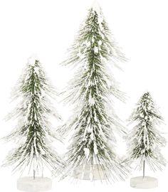 Item # 29376 | Bristle Tree Set - Snowy | Primitives by Kathy