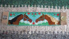 Americana Blue & White Flowers Bead Loom Pattern by PuebloAndCo Seed Bead Patterns, Beading Patterns, Stitch Patterns, Bead Loom Bracelets, Beaded Bracelet Patterns, Beaded Earrings, Seed Bead Crafts, Indian Beadwork, Horse Pattern