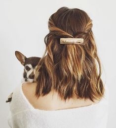 If you're looking to switch up your beauty game without anything too drastic, look to your hair color. See the top fall hair colors for Holiday Hairstyles, Quick Hairstyles, Pretty Hairstyles, Hairdos, Amazing Hairstyles, Hairstyle Ideas, Party Hairstyle, Makeup Hairstyle, Casual Hairstyles