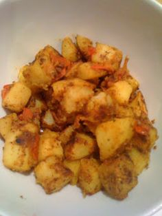 Bombay potato's! Hmmmm. Lovely syn free side dish for sw curries! Try adding some spinach too...