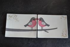 2 assiettes pour une couple d'amoureux. http://www.idporcelaine.net/ Atelier IDPOrcelaine et Bijou à Lançon-Provence