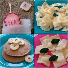 Felt food tutorials. Not just the regular stuff like fruit...