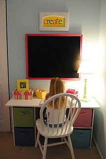 DIY desk ( Have a fun place to explore writing! )