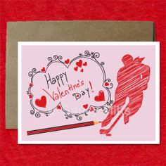 Valentine's Hockey Greeting Cards - Hockey Scribble Sketch Female. Wish the female hockey player or fan in your life a Happy Valentine's Day with this fun Valentine hockey greeting card. This card design features a girl hockey player with hearts and a scribble sketch look with the words happy valentine's day.