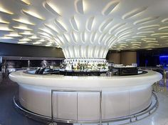 """Corian® restaurants and bar"" theme winner, submitted by Erbi BV. This is a Corian® bar in the Holland Casino Rotterdam. #corian"