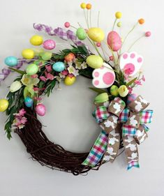 Handmade Easter Decoration Garland Natural Rattan Wreath Door Wall Ornament Hanging Garland Decoration Easter Decor For Home - Easter wreaths - Easter Projects, Easter Crafts, Bunny Crafts, Spring Crafts, Holiday Crafts, Diy Osterschmuck, Easy Diy, Diy Easter Decorations, Garland Decoration