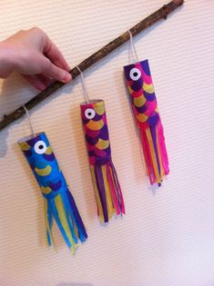 Carp in toilet paper roll! Diy And Crafts Sewing, Arts And Crafts, Crafts For Teens, Diy For Kids, Deco, Carpe Koi, Diy Papier, Craft Wedding, Toilet Paper Roll
