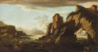 Fishermen bringing in the days haul by Salvator Rosa