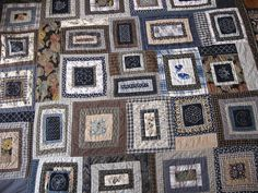 blue Quilt with Sashiko by archivalservices, via Flickr